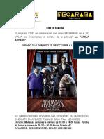 Cartel La Familia Addams