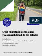 Informe DDHH Vzla 2019-Crisis Migratoria
