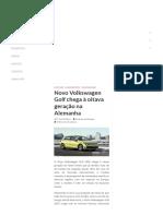 Novo Volkswagen Golf Chega à Oitava Geração Na Alemanha