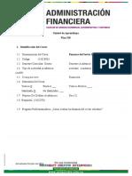 Unidad de Aprendizaje Finanzas Del Sector Solidario Plan 318 Bloque C 2019-II