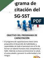 Programa de Capacitación Del SG-SST