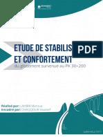 Rapport stage Etude Stabilité d'un glissement