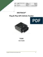 MEITRACK TC68S Vehicle Tracker User Guide V1.1