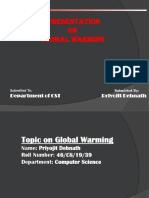 Priyojit Debnath Global Warming PPT