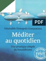 Mediter au quotidien - Venerable Henepola Gunaratana.epub