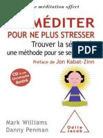 Mediter pour ne plus stresser ( - Williams, Mark.epub