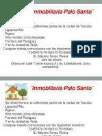 Inmobiliaria Palo Santo¨