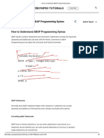 1.How to Understand ABAP Programming Syntax