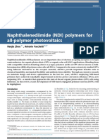Naphthalenediimide Ndi Polymers for Allpolymer Photovoltaics 2018