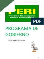 Programa de gobierno del PERI