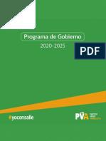 Programa de gobierno del Partido Verde Animalista
