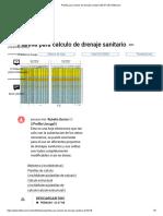Planilla Para Calculo de Drenaje Sanitario (