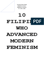 10 Filipina woman who advanced feminism in Philippines