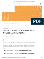 ORACLE 12C PREINSTALL STEPS