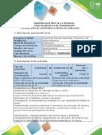 Guía de Actividades y Rúbrica de Evaluación - Paso 2 - Trabajo Colaborativo