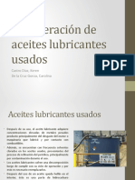 lubricantes aceites usados