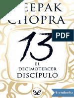 El Decimotercer Discipulo - Deepak Chopra
