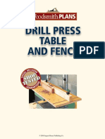 Drill Press Table & Fence
