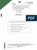 CAPE Management of Business 2015 U2 P2
