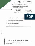 CAPE Management of Business 2014 U2 P032