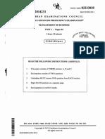 CAPE Management of Business 2014 U2 P2