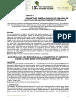 MICROBIOLOGIA E PARÂMETROS MINERALÓGICOS DE CAMADAS DE COBERTURA OXIDATIVAS COM USO DE COMPOSTO ORGÂNICO