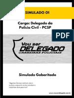 Apostila - Simulado - Quero Ser Delegado - Carreiras Policiais