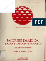 Peretti Cristina-Jacques Derrida, Texto y Deconstrucción
