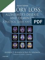 Budson - Memory Loss, Alzheimer's Disease, And Dementia - 2 Ed - 2015