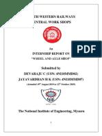 Railway Work Shop Report