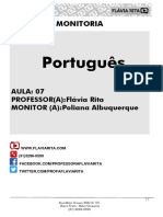 Resumo Português Aula 07