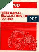 1977 Jeep Technical Service Bulletin (TSB)