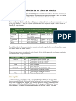 Clasificación y Distribución de Los Climas en México