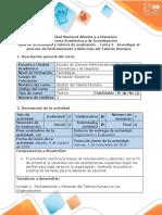 Guía de Actividad y rúbrica de evaluación - Tarea 2 - Investigar el proceso de Reclutamiento y Selección del Talento Humano.pdf