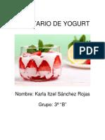 Recetario de Yogurt