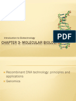 IB Chapter 3 - Molecular Biology