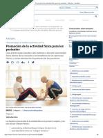 Promoción de La Actividad Física Para Los Pacientes