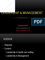 Dr. Andreasta - Leadership & Management