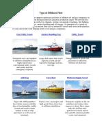 Type of Offshore Fleet