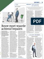 Artikel_Cobouw_De Bouw Moet Waarde Achteraf Bepalen_17112010