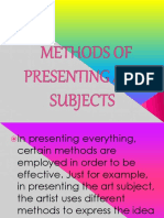 Methods of presenting subjects