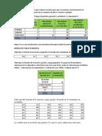 TABLA DE FRECUENCIA, MODELO DE TABLA ESTADISTICA , MEDIDAS DE TENDENCIA CENTRAL, MEDIDAS DE VARIANZA,