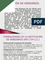 Institución y Sustitución de Herederos y Legatarios Ppt