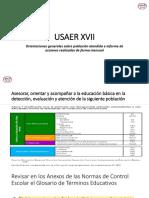 USAER XVII Orientaciones Poblacion Atendida