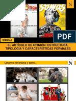 S 9- El Artículo de Opinión, Estructura, Tipología, Caracterísiticas