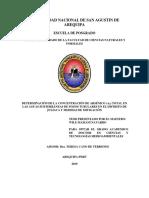 Determinación de la concentración de arsénico (As) total en las aguas subterráneas de pozos tubulares en el distrito de Juliaca y medidas de mitigación