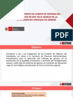 Fortalecimiento de Comité de Defensa Del Estudiante en Iest, En El Marco de La Aplicación Del Enfoque de Género