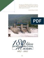 180 Anos Sociedad Del Canal de Maipo