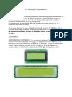 Les Afficheurs LCD alphanumérique