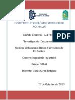 Investigacion Documental Calculo Vectorial